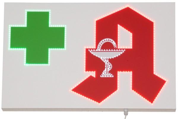 LED Leuchtkasten Apotheken A und Apothekenkreuz