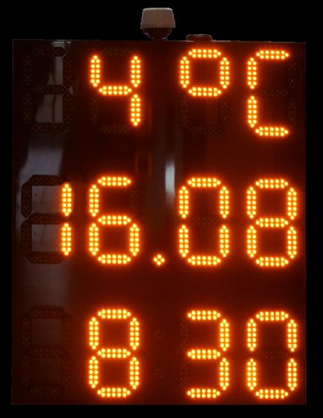 Drei Segment LED Uhr