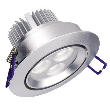 3*1W LED Einbaustrahler, Deckenausschnitt Ø70mm