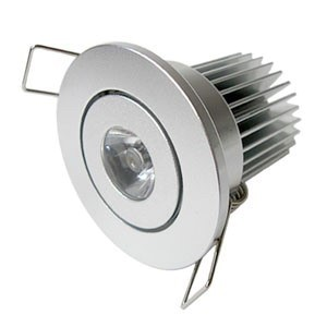 1*3W LED Einbaustrahler, Deckenausschnitt Ø40mm