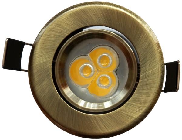 3*1W LED Einbaustrahler Bronze