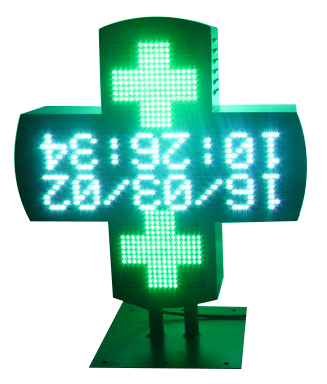 Display Apothekenkreuz LED 50 cm
