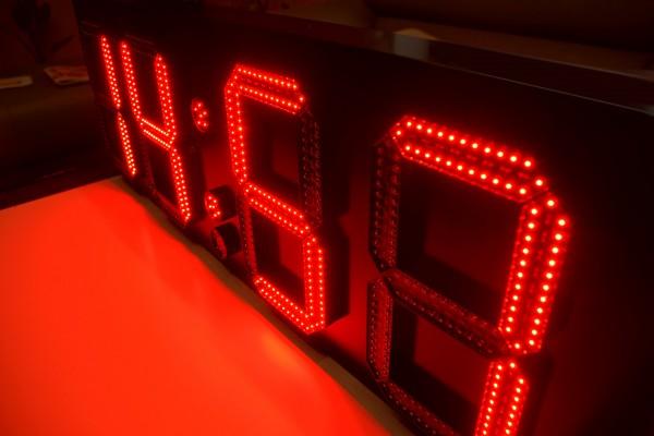 LED GPS Uhr/ Temperatur/ Datum Anzeige, 30cm
